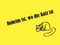 Lustige Fußmatte Daheim ist wo die Katz ist 999-1011_75-50