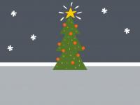 Fußmatte mit Weihnachtsbaum 999-1818