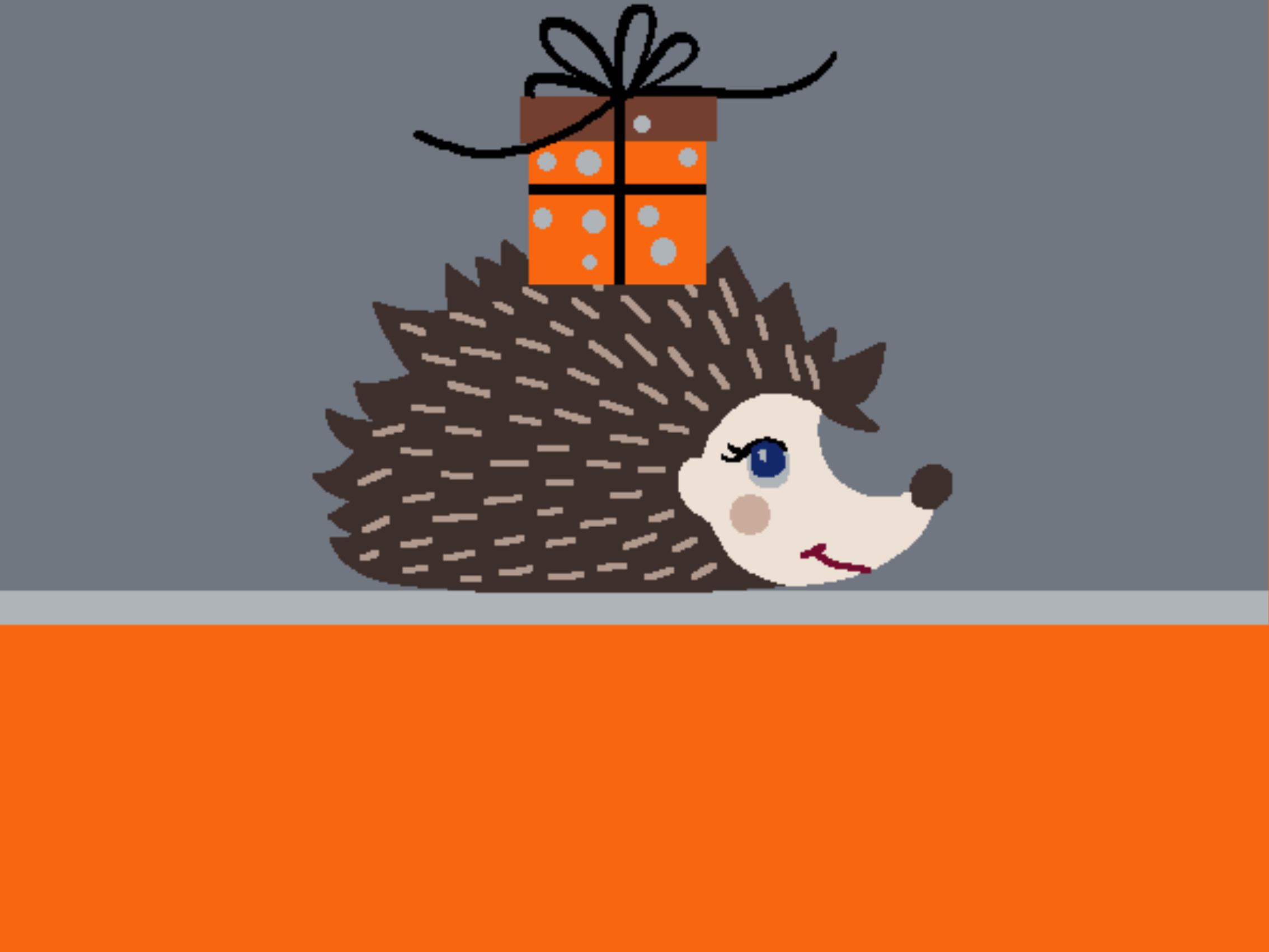 Doormat autumn design with hedgehog motif 999-1952