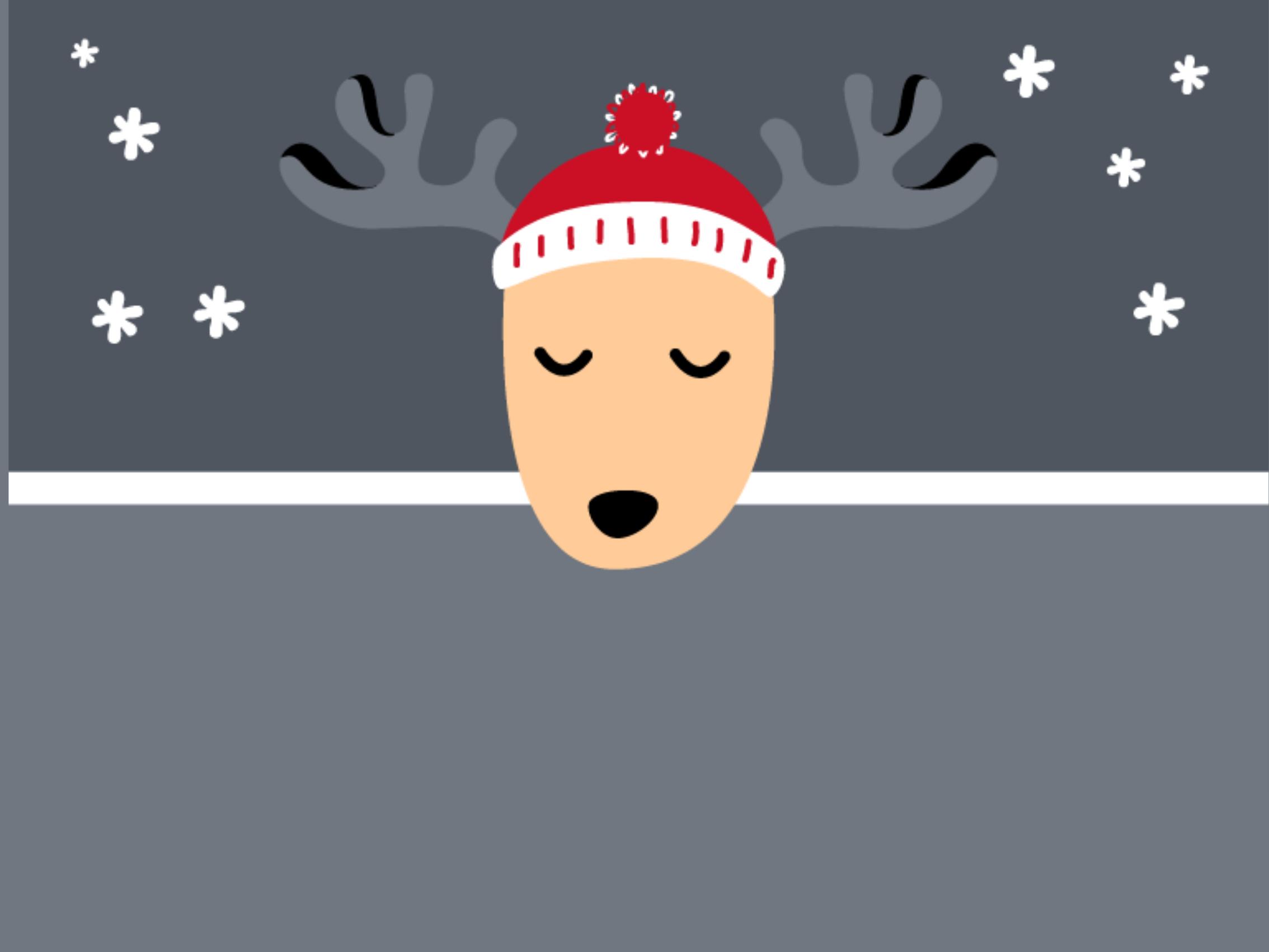 Reindeer with cap 999-1820