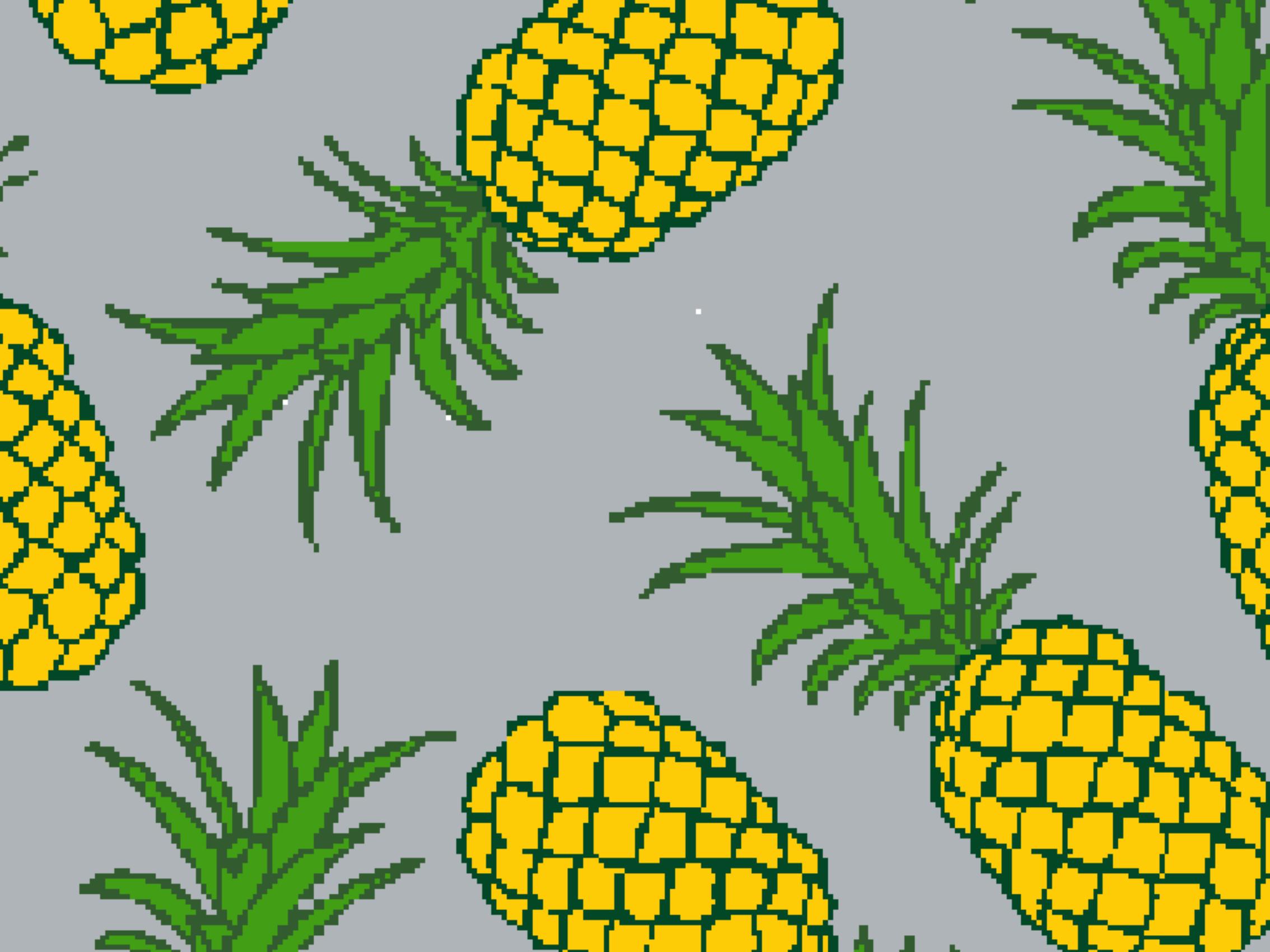 Summer mat Pineapple grey 999-1874