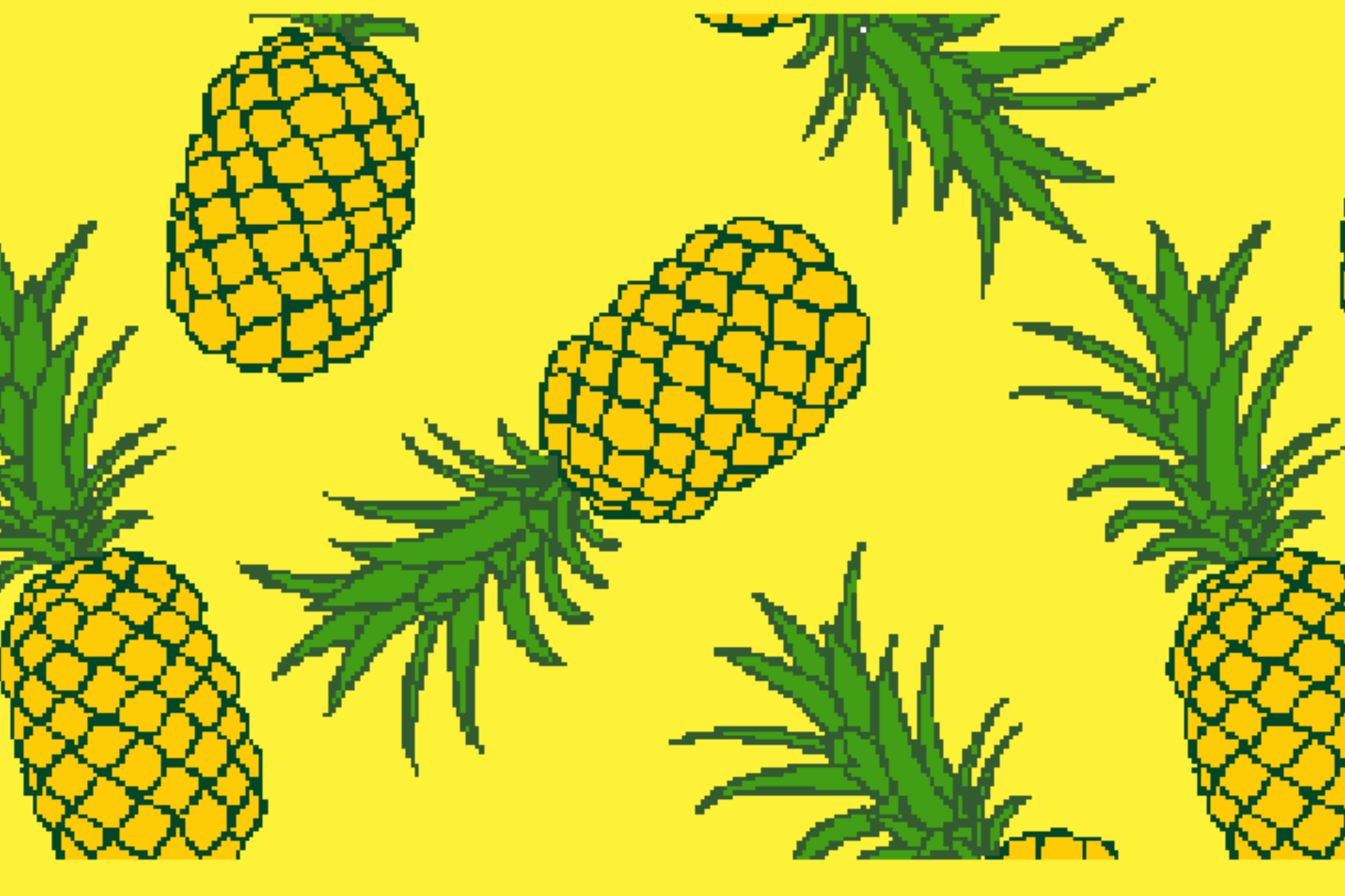 Summer mat with pineapple 999-1887