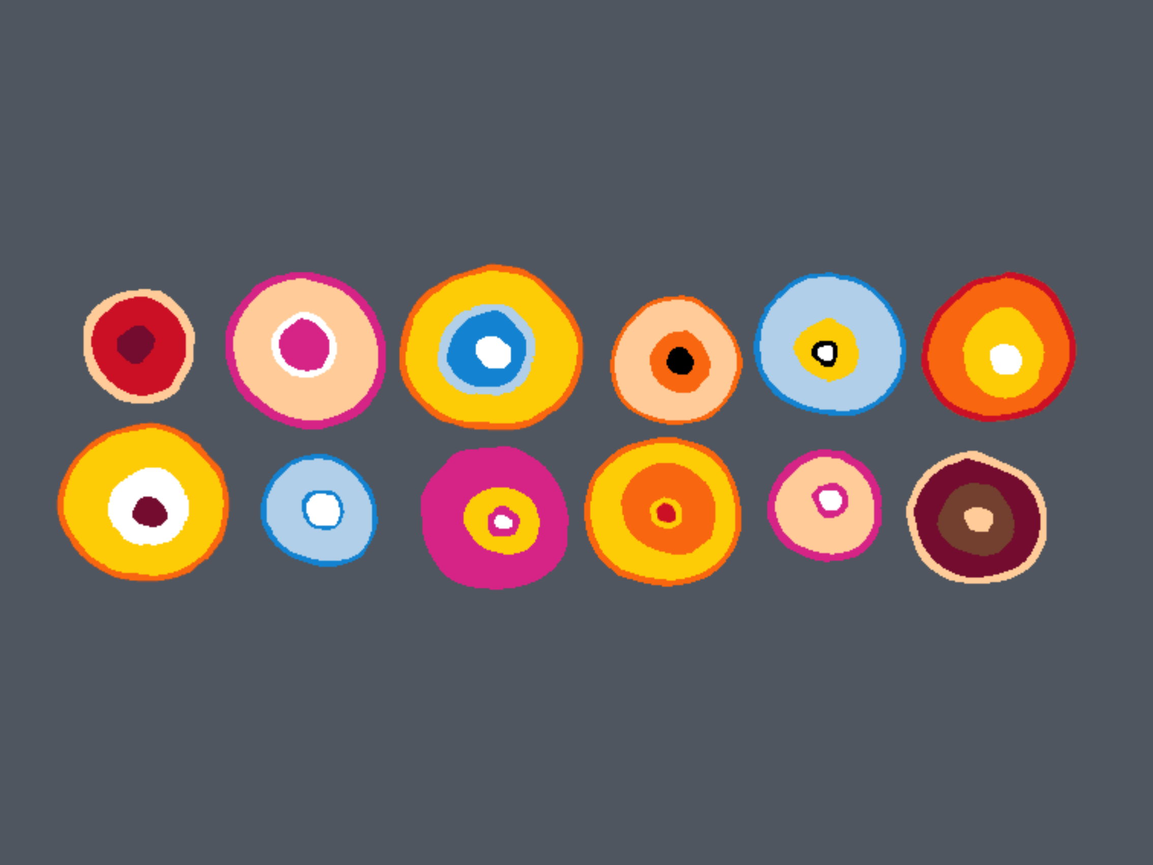 Colourful circles in grey 999-1781