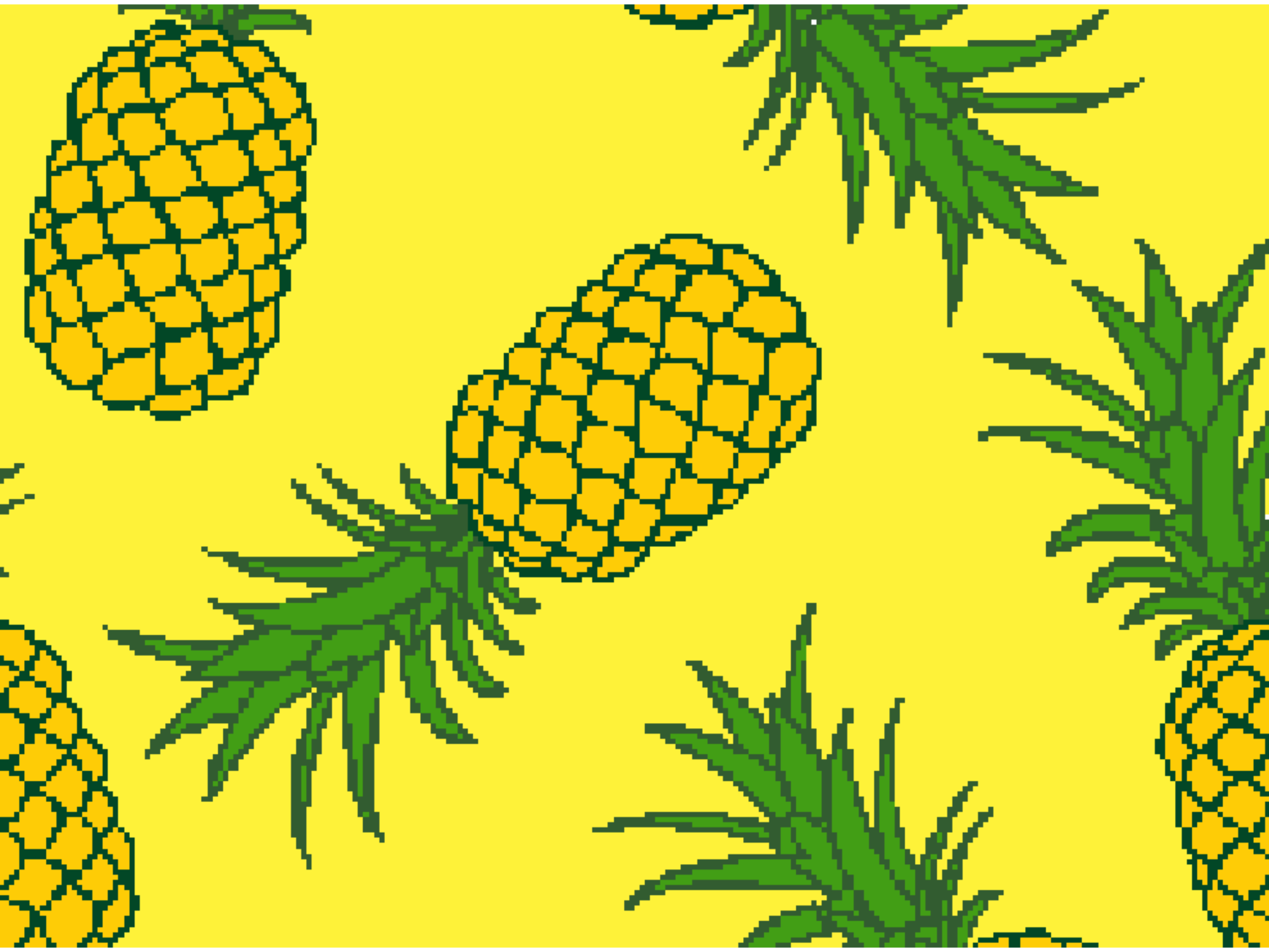 Summer mat with pineapple 999-1886