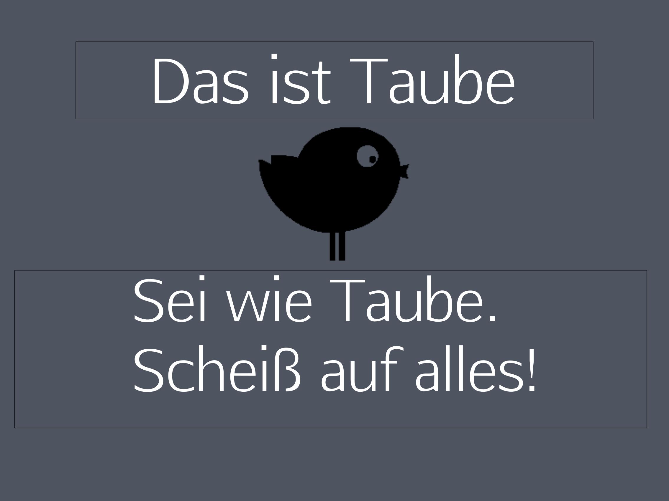 "Doortmat ""Das ist Taube"" 999-1831"