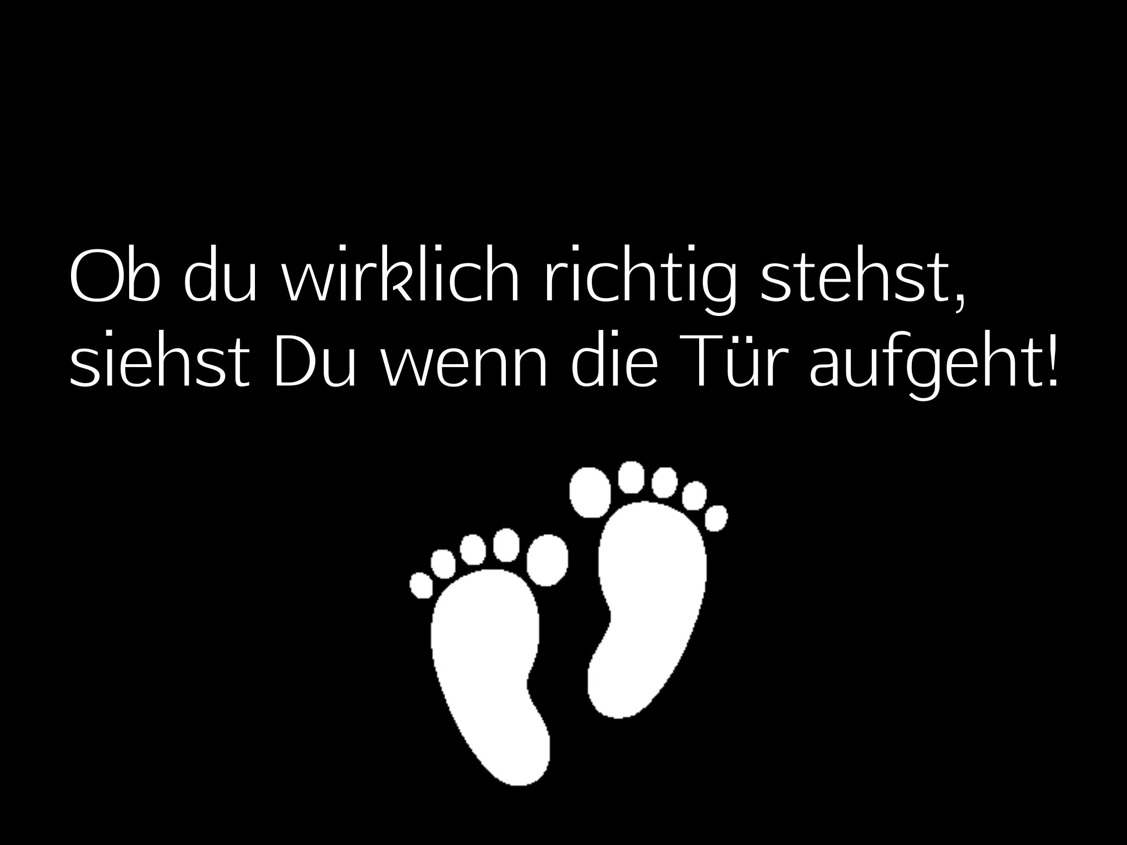 "Doormat ""Ob du Wirklich..."" 999-1637"
