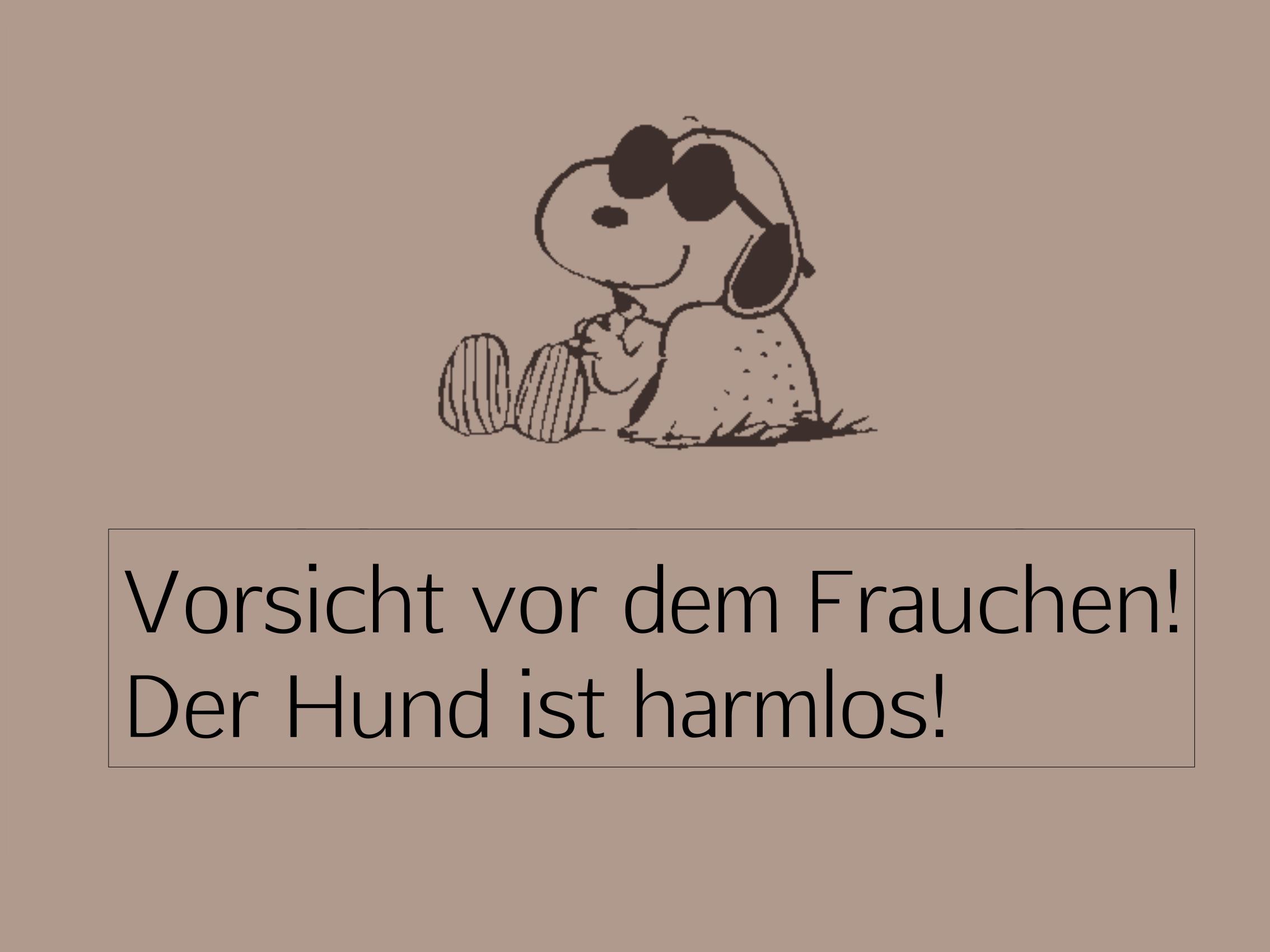 """Doormat """"Vorsicht vor dem Frauchen"""" 999-1628"""