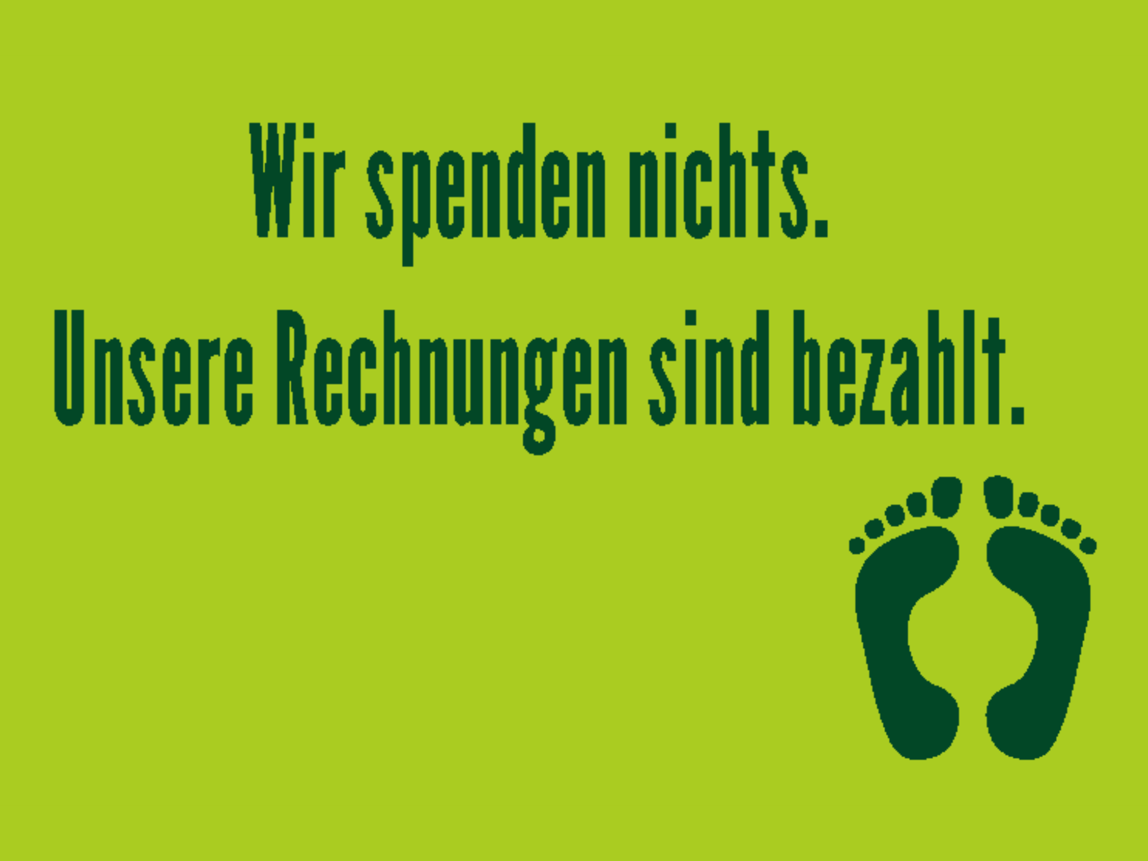 "Doormat ""Wir Spenden nichts"" 999-1385"