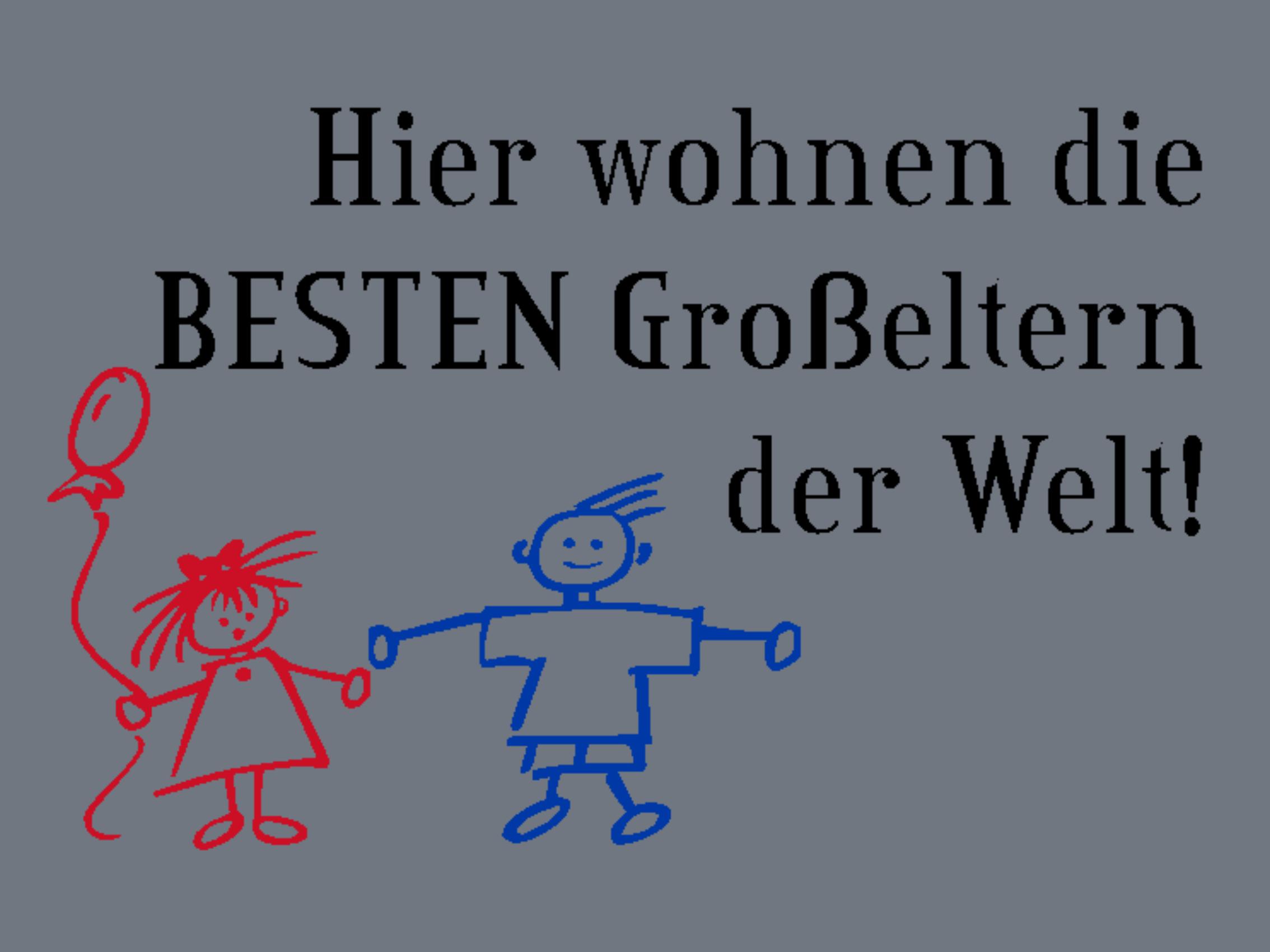 """Doormat """"beste Großeltern"""" 999-1213"""